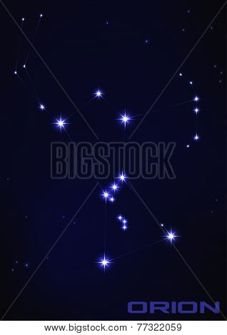 Illustration of Orion constellation