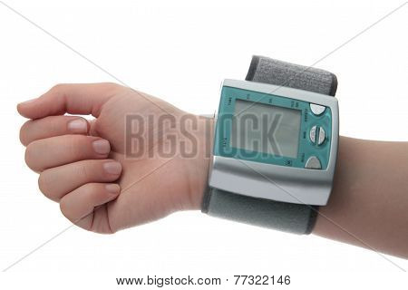 Electronic Pressure Gauge For Measuring Blood Pressure On Hand