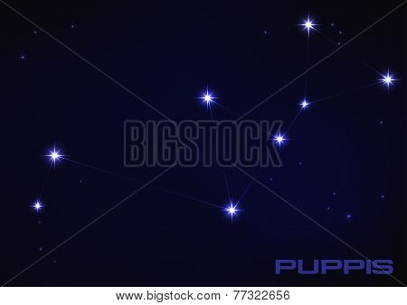 illustration of Puppies constellation