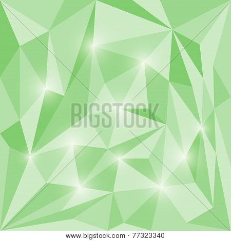 Abstract vector triangular geometric background with shining lights