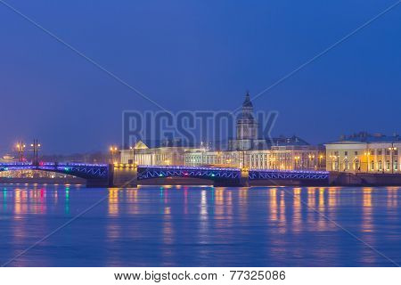 View Of The Kunstkamera Across The River Neva.