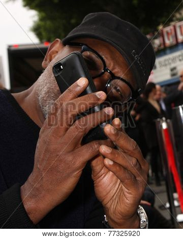 LOS ANGELES - DEC 1:  Samuel L. Jackson at the Christoph Waltz Hollywood Walk of Fame Star Ceremony at the Hollywood Boulevard on December 1, 2014 in Los Angeles, CA