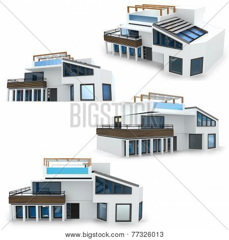 3D Modern House Collection