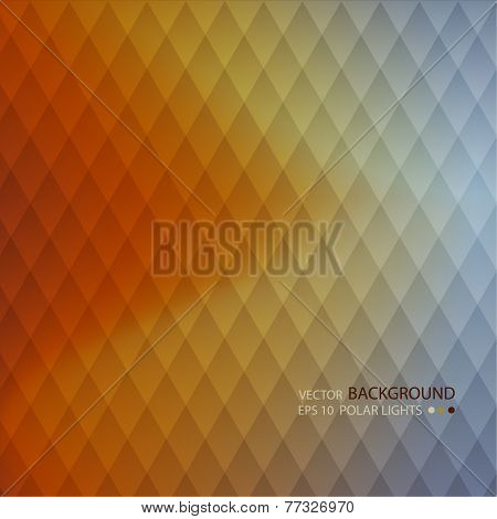 Abstract back background with a  polar lights of geometric shape