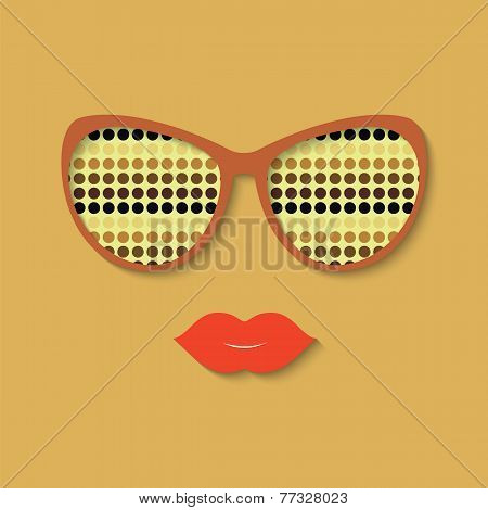 Hipster Girl And Sunglasses