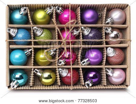 Colorful Xmas Balls Box