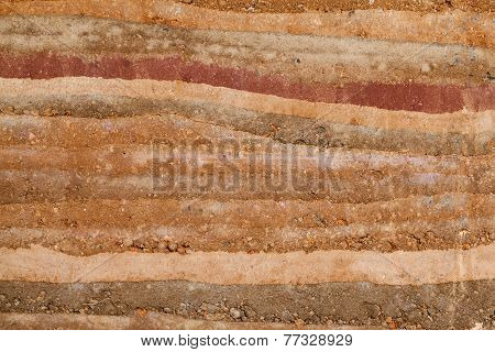 Background texture of stone layer wall.