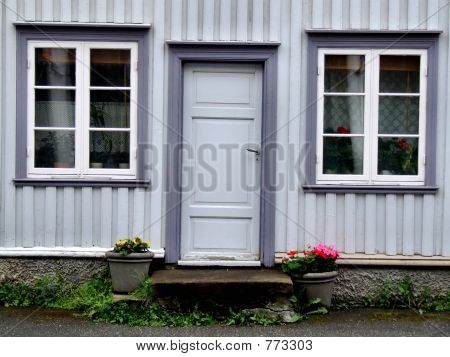 Old house door and windows