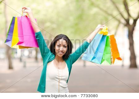 Black Woman Shopping