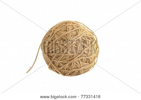 Tangle Of Twine Isolated On White