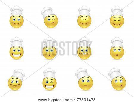 Set Of Kitchen Smilies