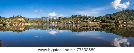 Panorama Ban Rak Thai Village In Meahongson, Thailand.
