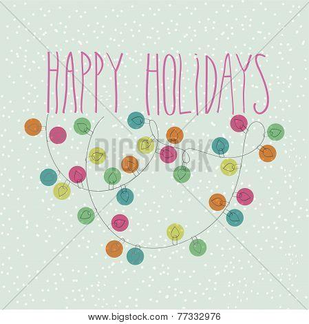 Happy Holidays Vector Card