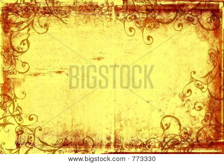 grunge warm photographic frame