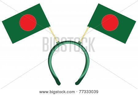 Headdress With Flags Bangladesh