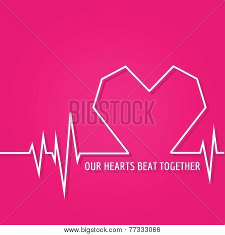 Heart Beat - Love Design for Valentine's Day Logo - in vector
