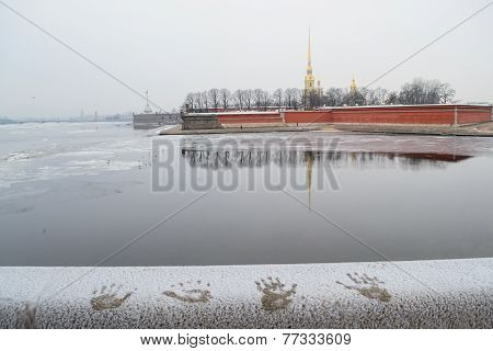 View of the Petropavlovskaya fortress in St. Petersburg
