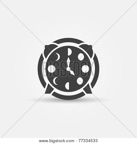 Moon phases alarm clock icon