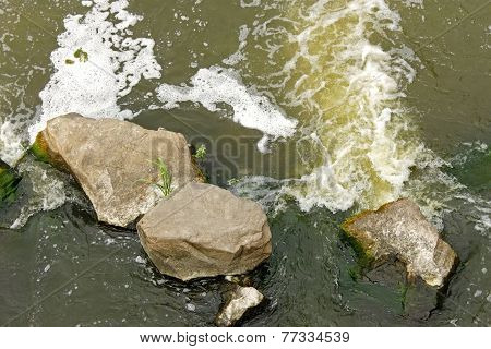 Rapid Foamy River Flow