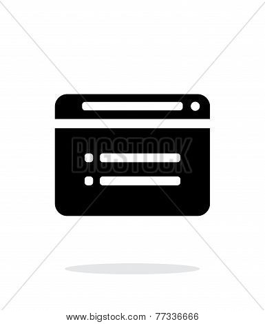 Web browser simple icon on white background.