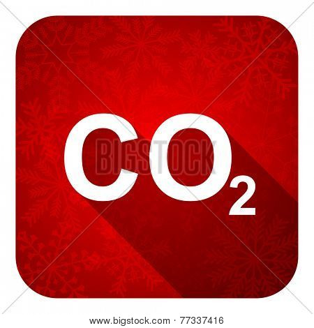 carbon dioxide flat icon, christmas button, co2 sign n