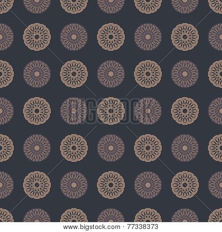 Abstract decorative spirographs pattern