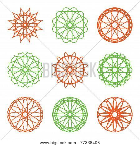 Round Color Ornament Set