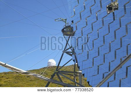 Telescopes In Roque De Los Muchachos. La Palma. Spain
