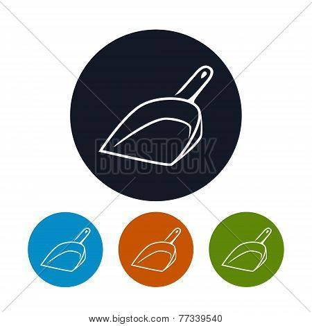 Icon dustpan , vector illustration