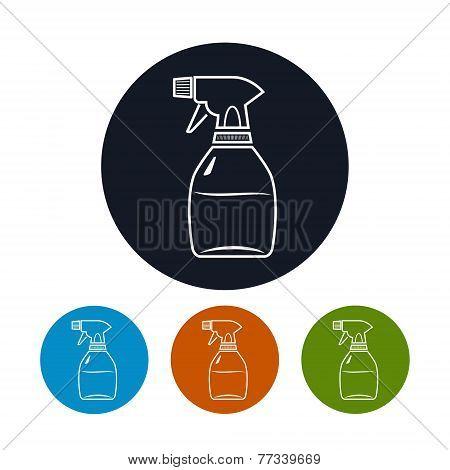 Icon sprayer , vector illustration