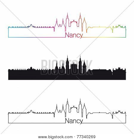 Nancy Skyline Linear Style With Rainbow