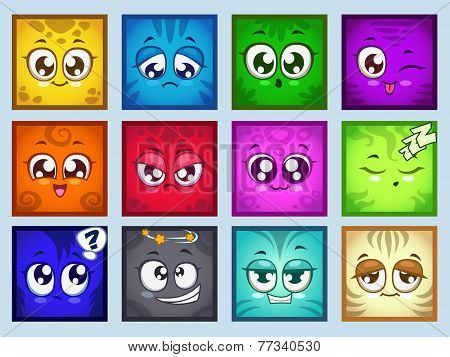 Cute square avatars