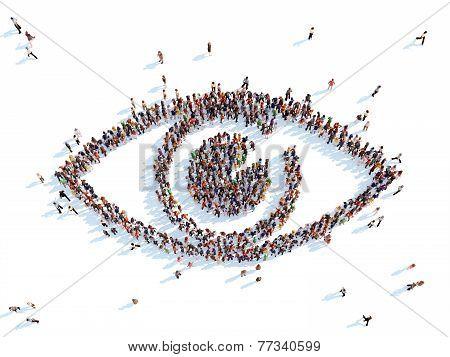 Symbol of a eye.
