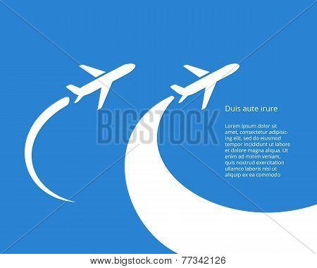 Airplane icon vector design