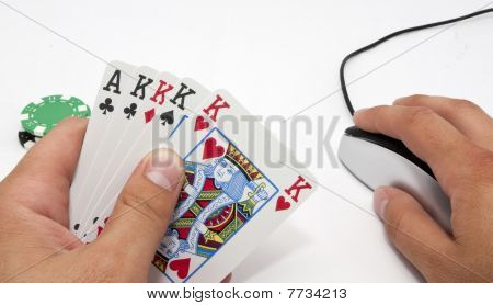Online 5 draw poker