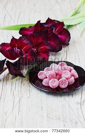 Candies And Maroon Gladiolus