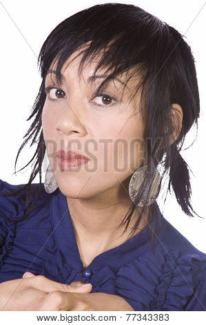 Close Up Of A Beautiful Asian Girl