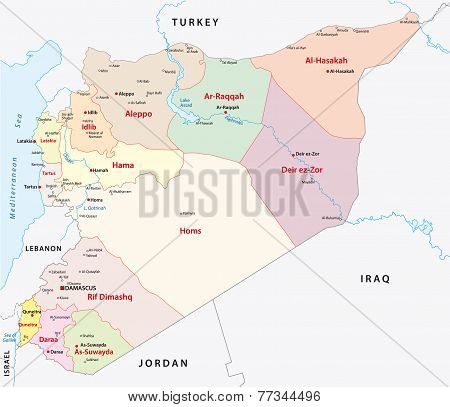 Syria Administrative Map