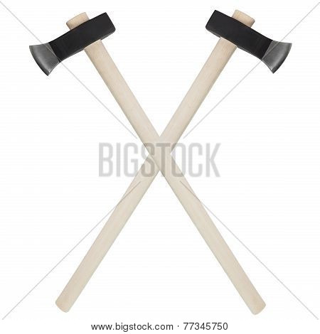 Two Ax Isolated On White