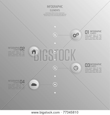 Modern template with volume elements of infographics