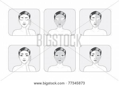 Women Facial Mask in Gray Color