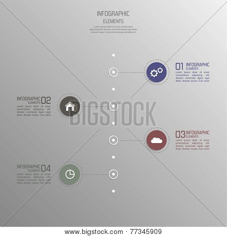 Modern template with elements of infographics