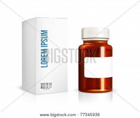 Medical glass bottle