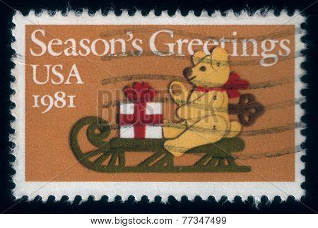 Season's Greetings. Christmas Postage Stamp, 1981