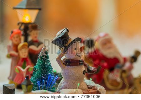 Snowman At A Christmas