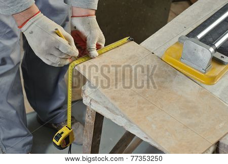 Cutting Ceramic Tiles.