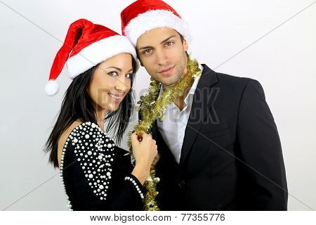 loving couple for Christmas