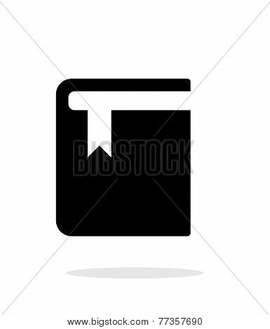 Book with bookmark simple icon on white background.