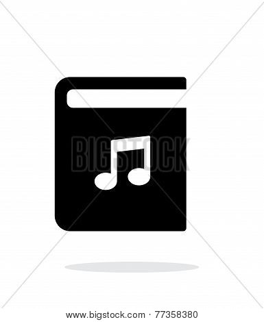 Audio book simple icon on white background.