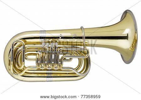 Tuba On White Background